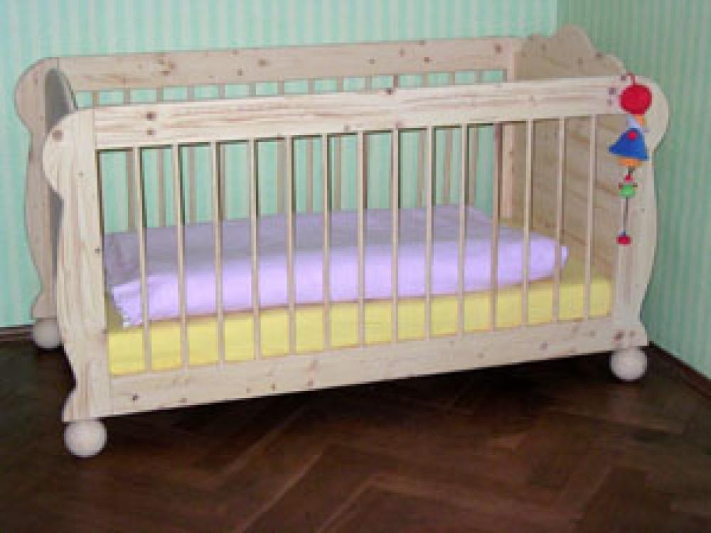 babybett lina kugelfuesse mit sch nen kugelf en. Black Bedroom Furniture Sets. Home Design Ideas